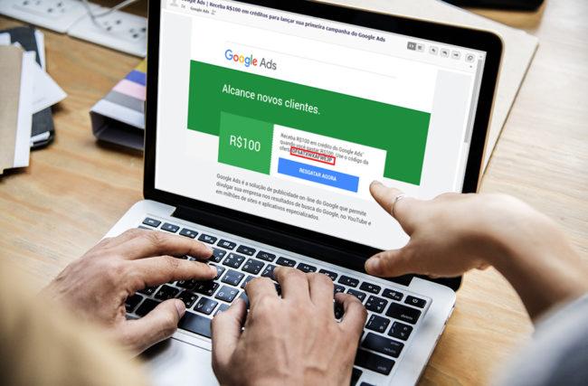 Receber Cupom de R$100,00 reais para Anunciar no Google Ads